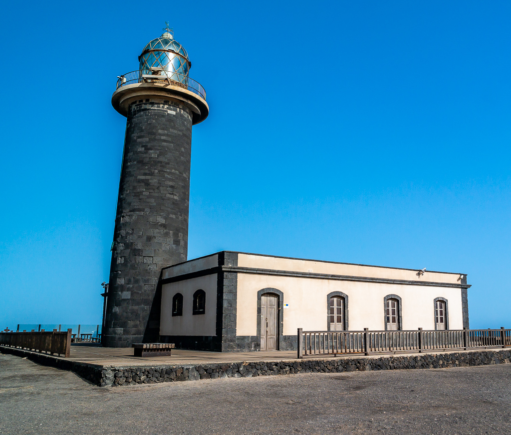 "Fuerteventura: Der Leuchtturm ""El Faro de la Lola"" an der Südspitze der Insel"