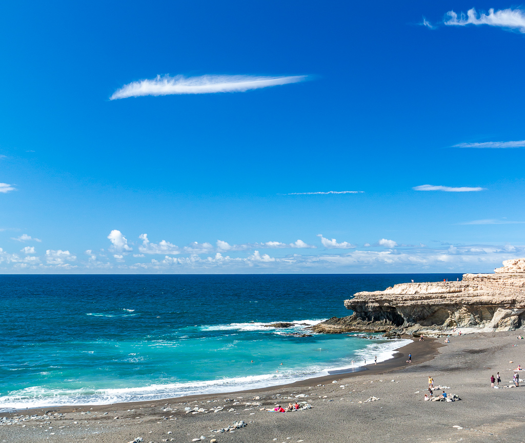 Fuerteventura: Der Lavastrand von Ajuy im Westen der Insel