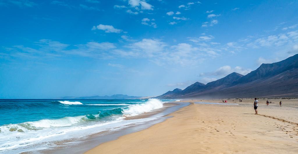 Fuerteventura: Der Strand von Cofete im Westen der Insel