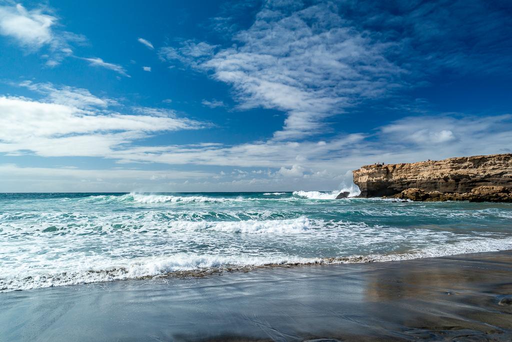 Fuerteventura: Der Strand von La Pared im Westen der Insel