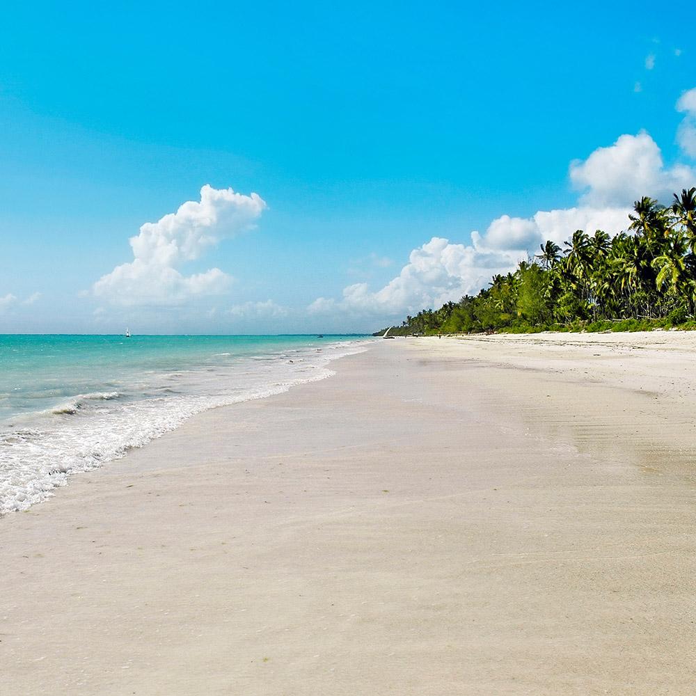 Paradiesischer Strand auf Sansibar