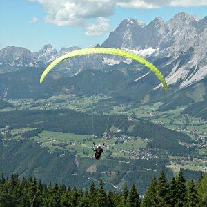 tandemfliegen gleitschirm alpen panorama