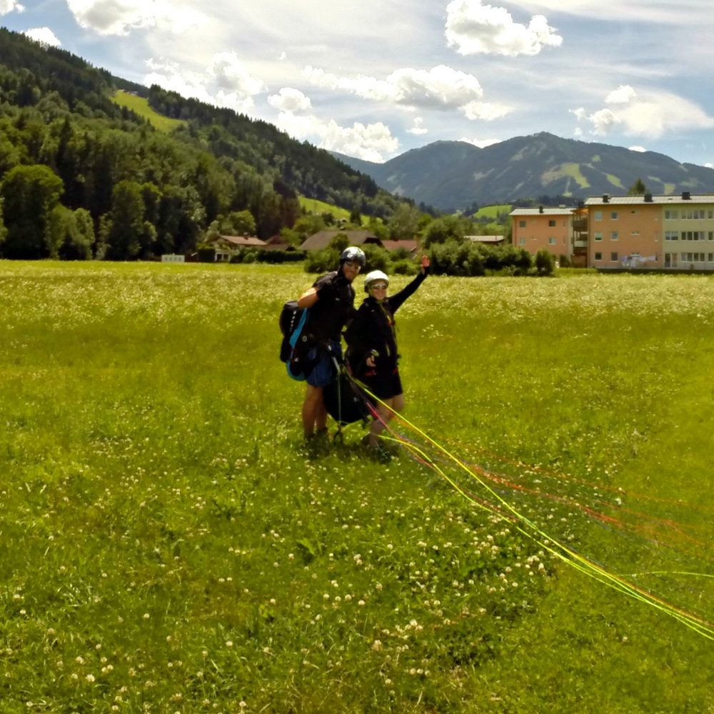 tandem paragliding schladming marion michael