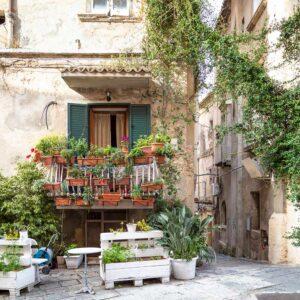Typische Hausfassade Tropea