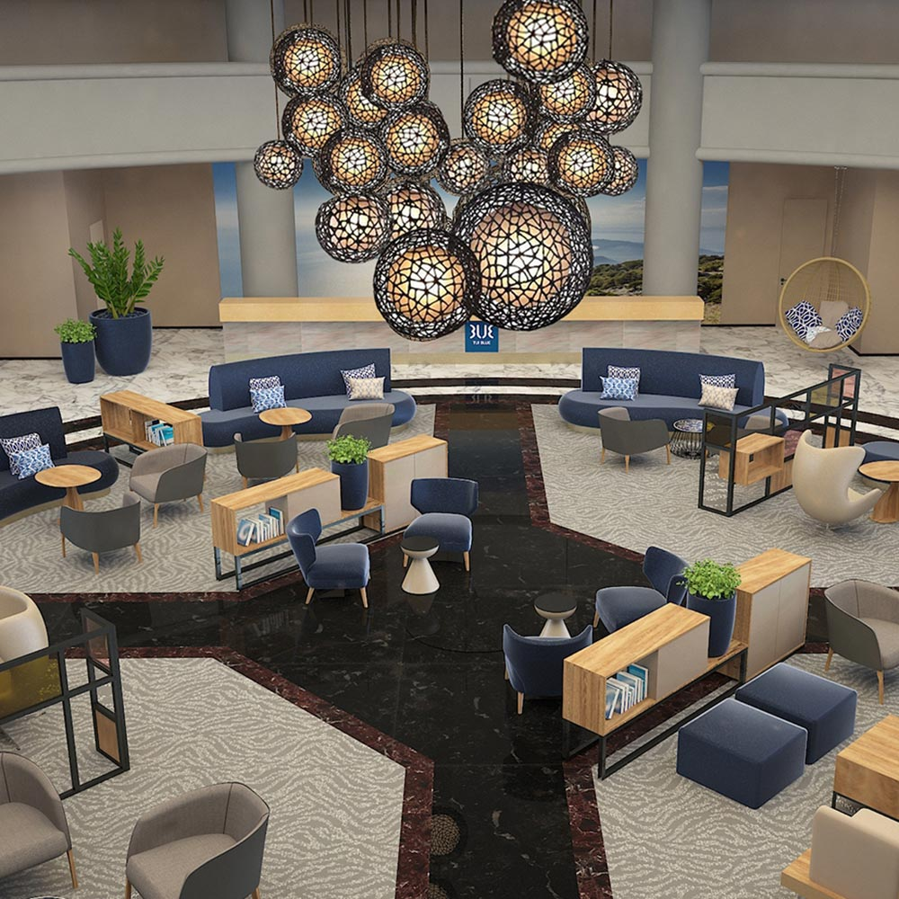 tui blue grand azur lobby