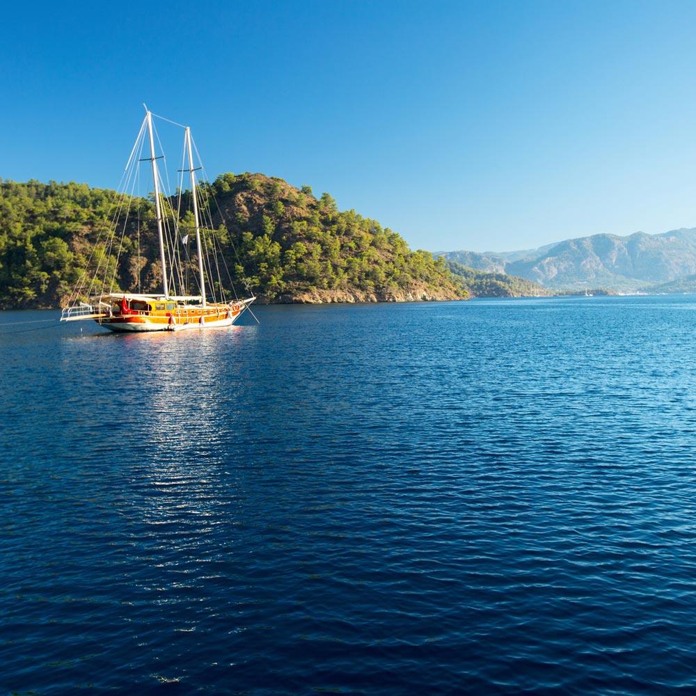 tui blue beach holiday boat trip marmaris turkey