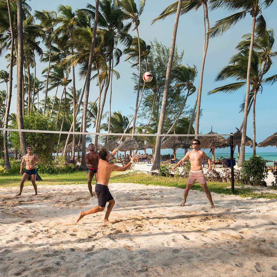 Volleyball urlaub auf Sansibar
