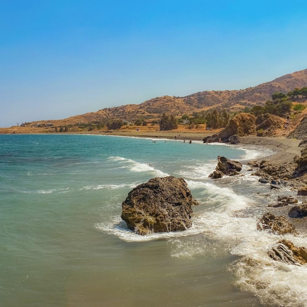 Wilde Küste Zypern Strand