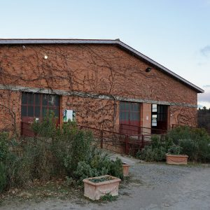 The winery building in Castelfalfi from the outside