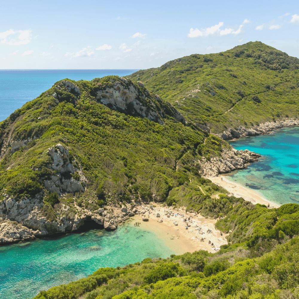 Zwillingsbucht auf Korfu Wandern